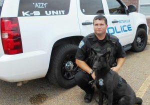 K-9 Division or Officer Greg Jones and K-9 Azzy
